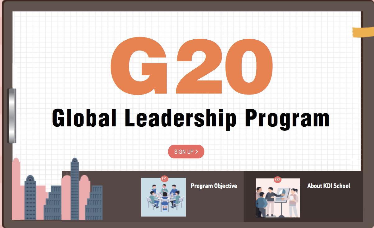 Request KDI School's G20 International Management Program 2019 (Fully-funded to Korea)
