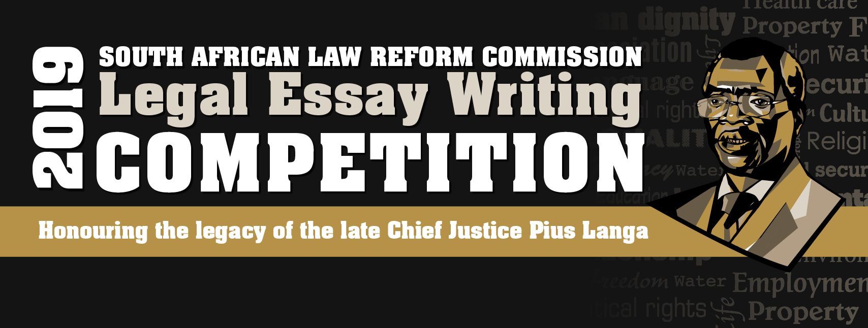 South African Law Reform Commission Legal Essay Composing Competitors 2019 (R70,000 reward)