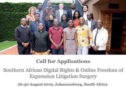 2019 Southern African Digital Rights & & Online Flexibility of Expression Lawsuits Surgical Treatment (Completely Moneyed to Johannesburg, South Africa)