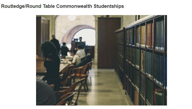 ACU Routledge/Round Table Commonwealth Studentships 2019 (Financing offered)