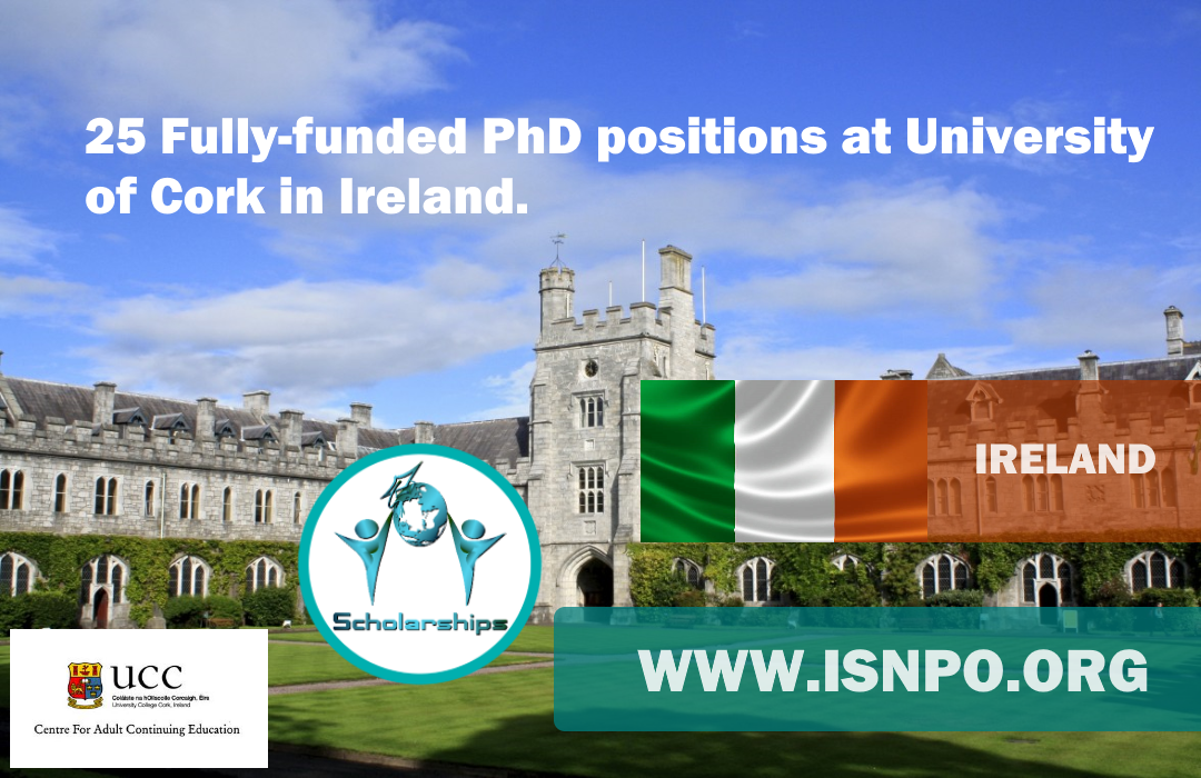 Fully-funded Ph.D. positions at the University of Cork in Ireland