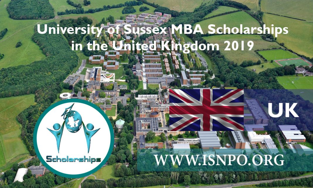 University of Sussex MBA Scholarships in the UK 2019