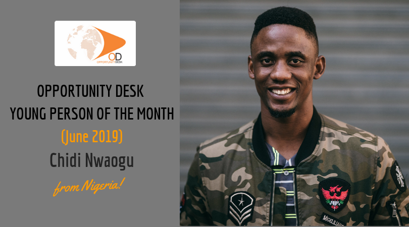 Chidi Nwaogu from Nigeria is OD Young Adult of the Month for June 2019!