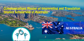 Communications Master of Interpreting and Translation Research Studies Scholarship in Australia