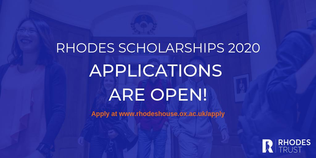 Rhodes Global Scholarships 2020 for Postgraduate Research Study at University of Oxford (Completely Moneyed)