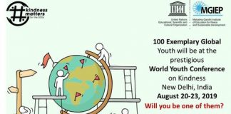 UNESCO MGIEP 2019 World Youth Conference on Compassion (Totally Moneyed to New Delhi, India)