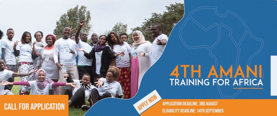 Peace Transformation fourth Amani Training for Africa 2019 (Moneyed to Thailand)