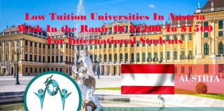 Low Tuition Universities in Austria with Charges in the Series Of EUR1200 to EUR1500 for International Trainees