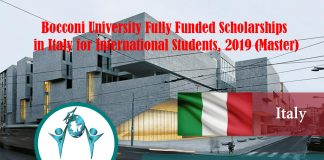 Bocconi University Totally Moneyed Scholarships in Italy for International Trainees, 2019