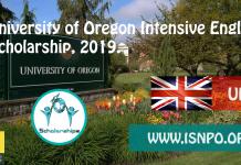 University of Oregon Intensive English Scholarship, 2019