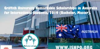 Griffith University Impressive Scholarships in Australia for International Trainees, 2019