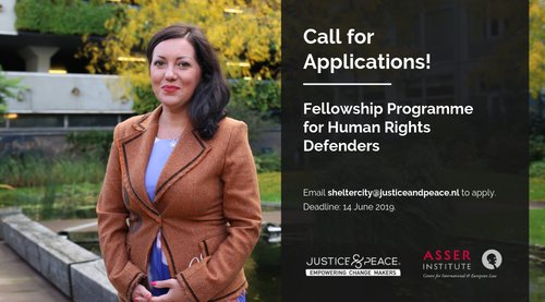 T.M.C. Asser Institute Fellowship Program for Person Rights Protectors 2019