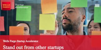 Wells Fargo Start-up Accelerator Program 2019 (as much as $1,000,000)