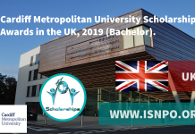 Cardiff Metropolitan University Scholarship Awards in UK, 2019