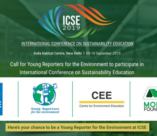 Require Young Press Reporters for the Environment to participate in the International Conference on Sustainability Education 2019 in New Delhi, India (Fully-funded)