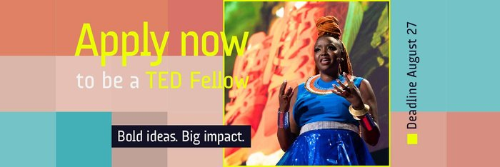TED Fellows program 2020 for amazing thinkers and doers (Totally Moneyed to Vancouver, BC, Canada)