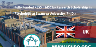 Totally Moneyed KESS II MSC by Research Study Scholarship in Psychology at Swansea University (Ph.D.)