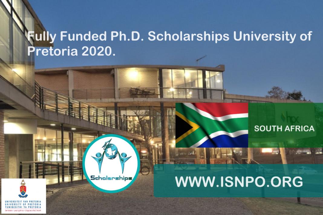 Totally Moneyed Ph.D. Scholarships University of Pretoria 2020