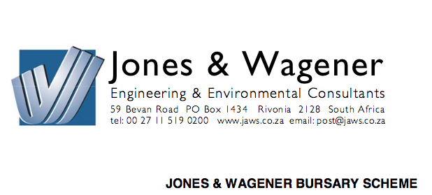 Jones & & Wagener Undergrad Bursary Plan 2020 for South Africans to Research Study Engineering in South Africa