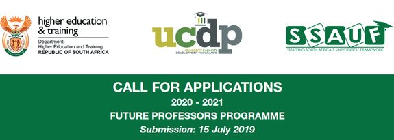 Require Applications: Federal Government of South Africa Future Professors Program 2020/2021