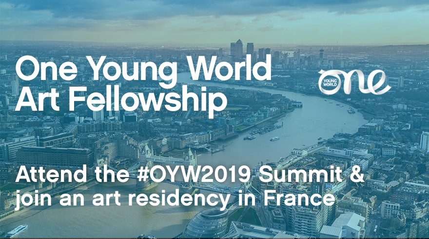 One Young World Art Fellowship 2019 (Fully-funded to OYW Top 2019 in London & & a month-long art residency in France)(******************** ).       <!-- Share buttons by mashshare.net - Version: 3.6.5--><!-- Quick Adsense WordPress Plugin: http://quickadsense.com/ -->   (******* )Due Date: Continuous</strong>. Are you utilizing art to alter society? Apply now for the(********** )One Young World Art Fellowship2019</a> to go to the OYW Top2019 in London & a month-long art residency in France.    Art is not passive, fixed, or two-dimensional. It is a universal lorry for unchecked expression, compassion, and social modification. The world these days, as it constantly has, requires excellent art and excellent artists to widen our awareness and drive the discussion around the complex web of concerns we deal with– social, political, and environmental. For this scholarship, they are looking for the next generation of artists following in the steps of Mapplethorpe, Banksy, and Ono, utilizing their art as a generator of social development   <strong> Scholarship</strong>    One Young World will provide this Fellowship to one visual artist utilizing their craft to promote favorable effect. The chance will provide fully-funded sponsorship to go to the OYW 2019 Top and sign up with the one month long residency program in France. Throughout the residency, the picked prospect will be anticipated to develop and provide a brand-new piece of work.   <strong> One Young World Top in London</strong>   <!-- Quick Adsense WordPress Plugin: http://quickadsense.com/ -->        Access to the One Young World Top 2019 in London  Hotel lodging on a shared basis in between 21 and 25 (inclusive) October, 2019  The expense of travel to and from London (flights in economy)  Catering that includes breakfast, lunch, and supper  Transportation in between the Top lodging and the Top place  Top hand-outs and assistance products    <strong> One-month art residency in France</strong>     The expense to tak