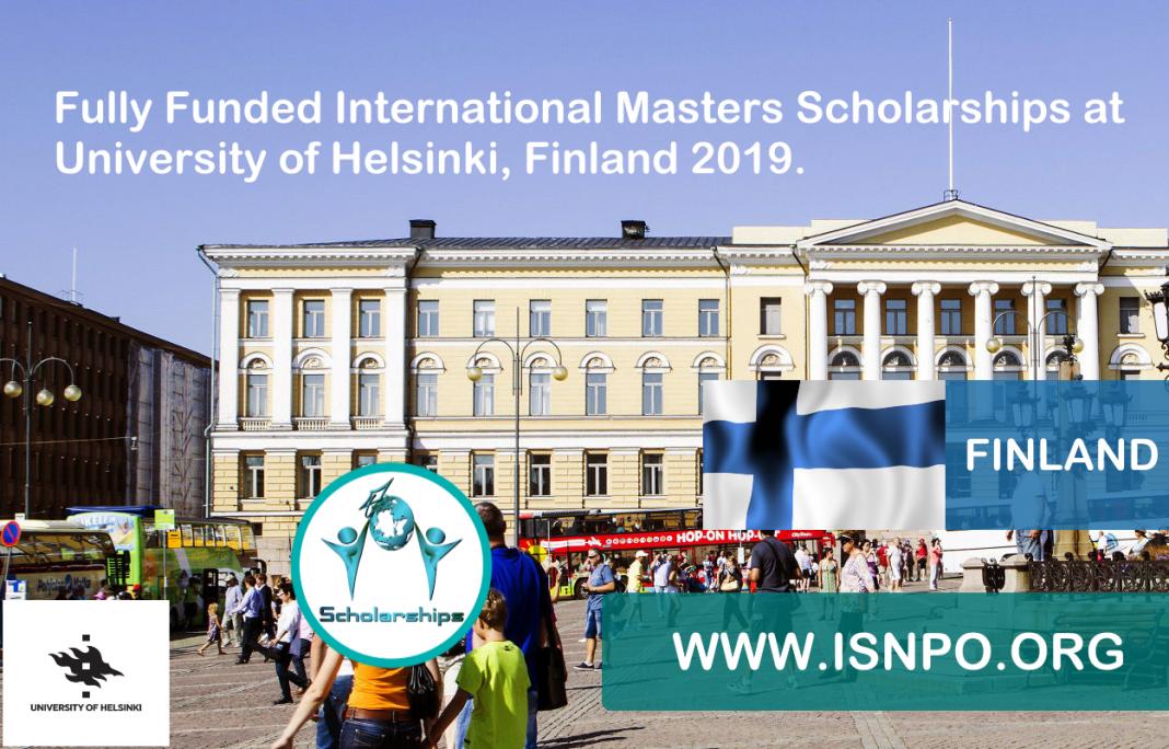 Totally Moneyed International Masters Scholarships at University of Helsinki, Finland 2019