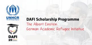 UNHCR DAFI (Albert Einstein German Academic Refugee Effort) Scholarship Program 2019