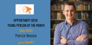 Patrick Benske from Canada is OD Young Adult of the Month for July 2019!