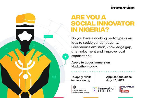 The UK Federal government's Department for International Trade (DIT) Lagos Immersion 2019 for Social Innovators