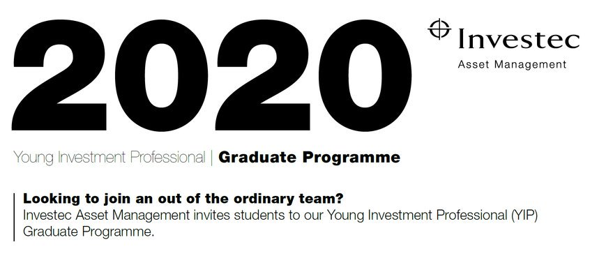 Investec Possession Management Young Financial Investment Expert Graduate Program 2020