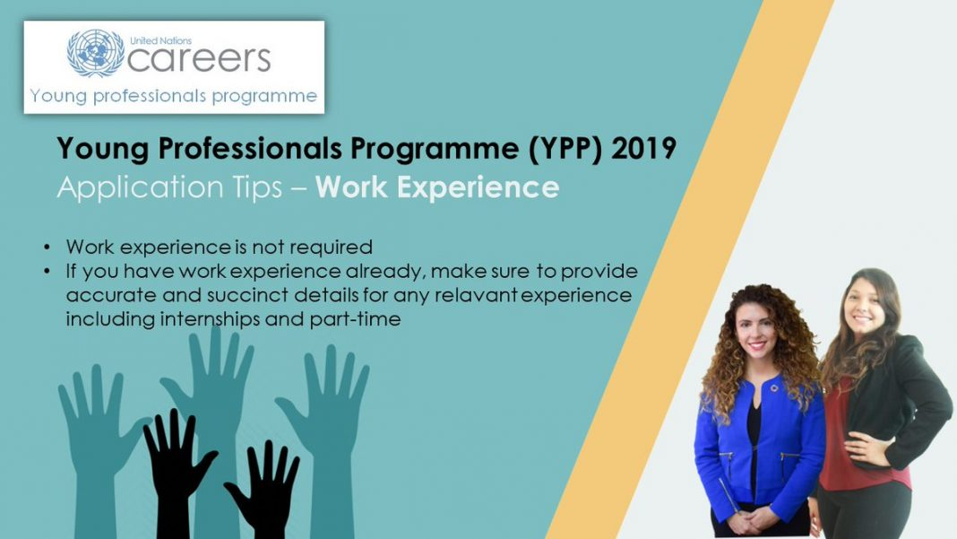 United Nations Young Professionals Program 2019