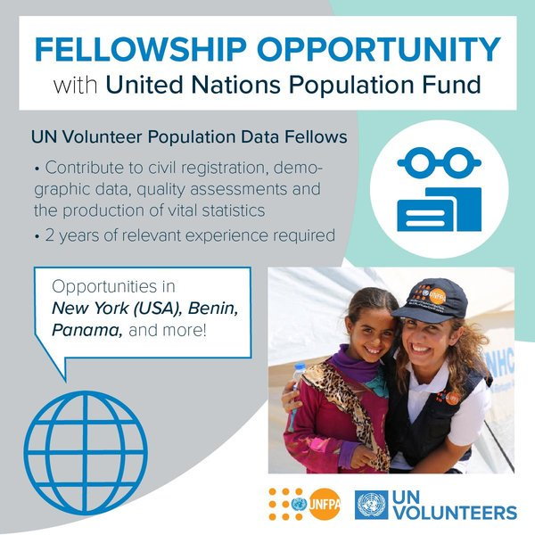 UNFPA/UN Volunteer Population Data Fellowships 2019 for early-career specialists