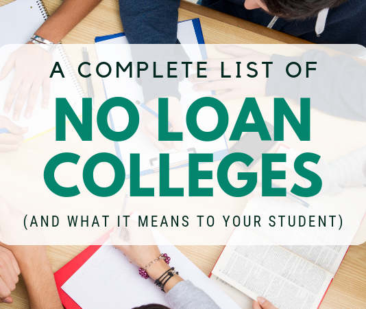 A Total List of No Loan Colleges (and What it Indicates to Your Trainee)