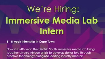 Electric South VR/AR laboratory Internship Program 2019 for young South Africans