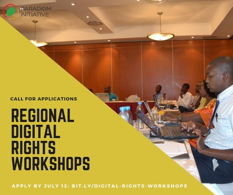 Paradigm Effort 2019 Digital Rights Workshops -Anglophone/Francophone West Africa.