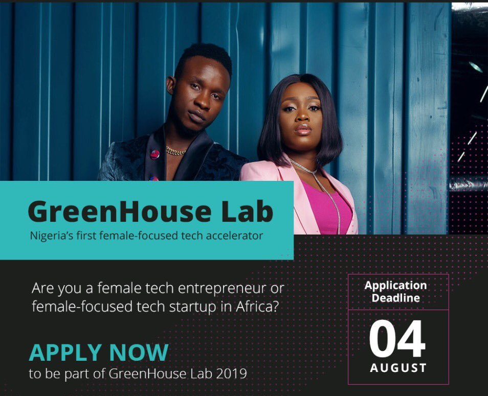 GreenHouse Laboratory Female-Focused Tech Accelerator Program 2019 (As Much As $100 K financial investment)