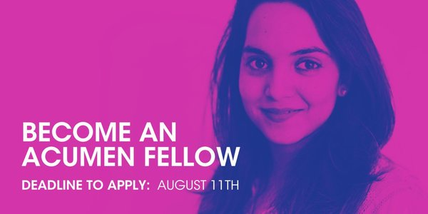 Acumen Fellows fund Program 2020 for young Social ChangeMakers (Totally Moneyed)