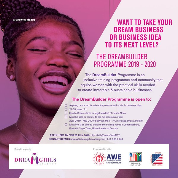 Academy For Females Business Owners (WONDER) DreamBuilder Program– 2019/2020