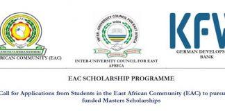 East African Neighborhood (EAC) Scholarship Program 2019 for Masters Research Studies