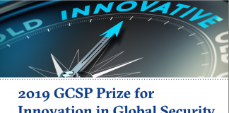 Geneva Centre for Security Policy (GCSP) 2019 Reward for Development in Global Security (CHF 10'000 Reward & & Completely Moneyed to Geneva, Switzerland)