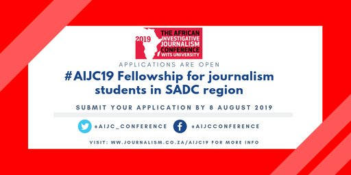 African Investigative Journalism Conference 2019 Bursary for Journalism trainees to go to AIJC 2019 in Johannesburg, South Africa (Completely Moneyed)