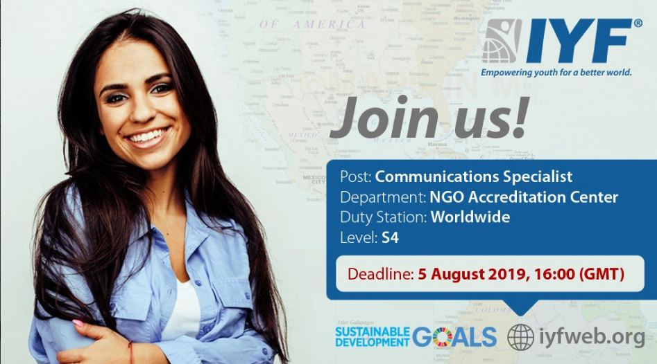 Sign Up With the International Youth Federation as a Communications Professional