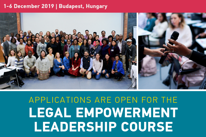 Make an application for the fifth Legal Empowerment Management Course in Budapest (Scholarships Available)