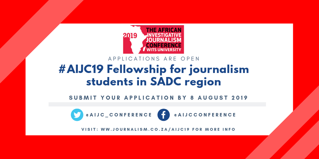 AIJC19 Fellowship for Journalism Trainees in SADC Area (Fully-funded to Johannesburg)