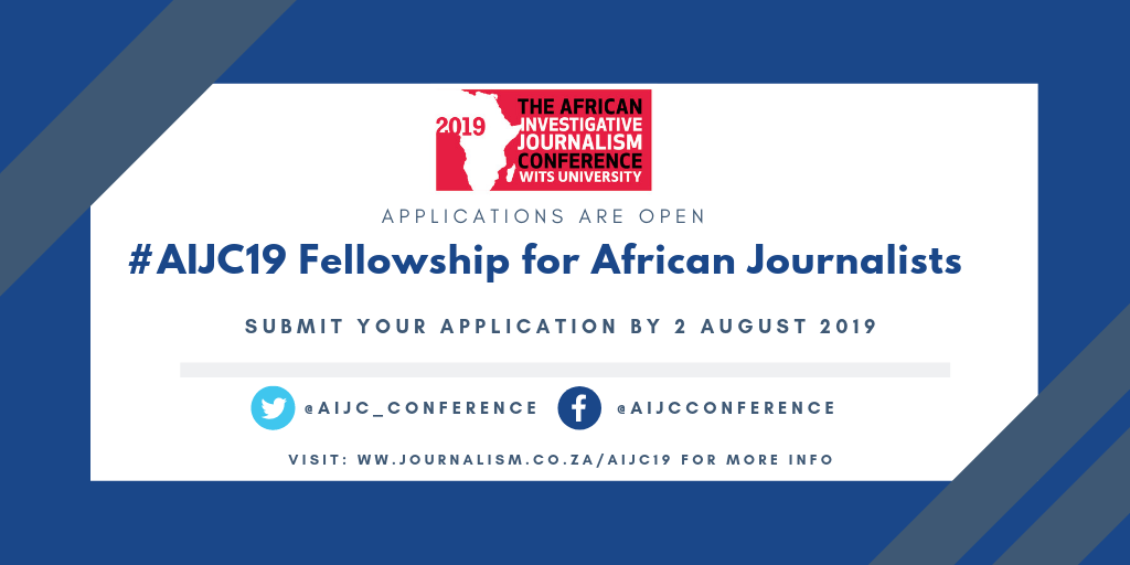 AIJC19 Fellowship for African Reporters (Moneyed to Johannesburg, SA)
