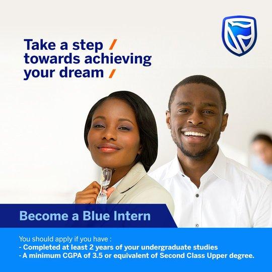 Stanbic IBTC Bank Blue Internship program 2019 for young Nigerians.