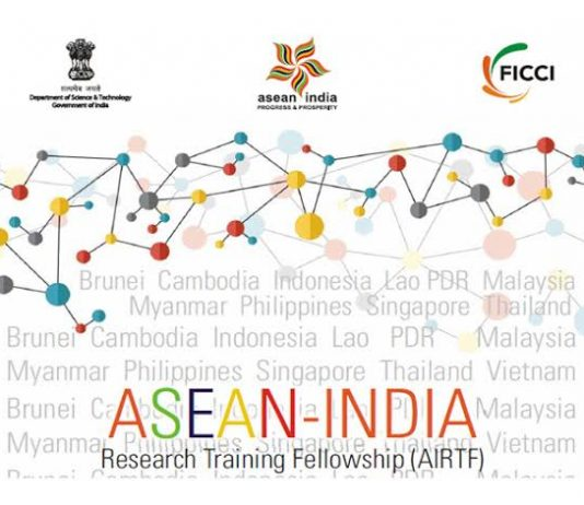 ASEAN-India Research Study Training Fellowship (AIRTF) 2019/2020 for ASEAN Young Scientist