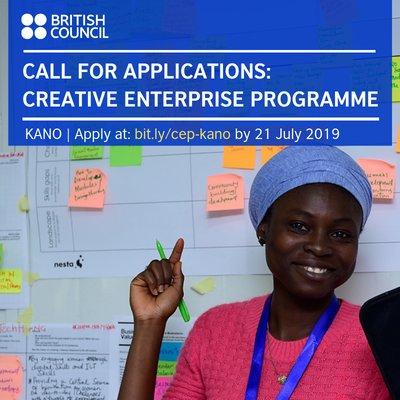British Council Nigeria Artistic Enterprise Programme 2019 (Enterprise Help) for younger Nigerian Creatives