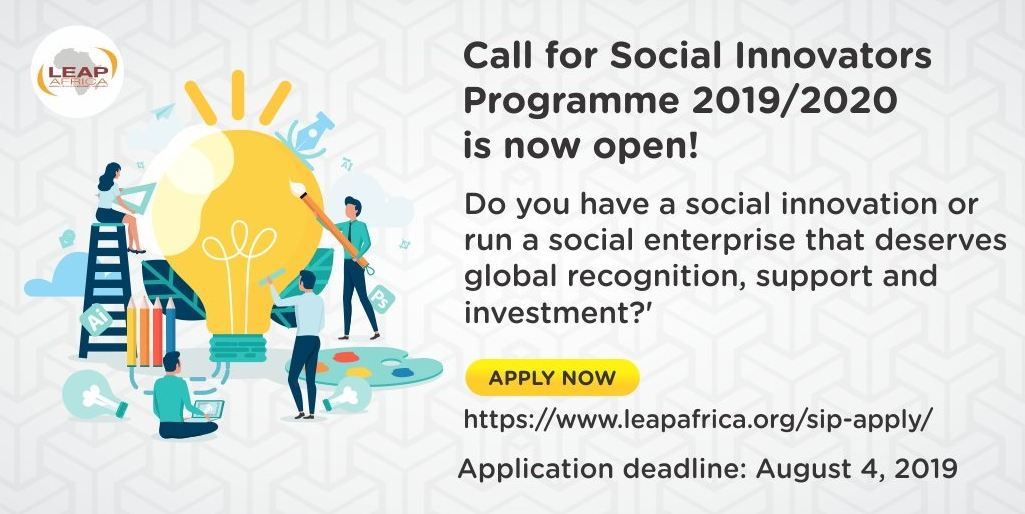 LEAP Africa Social Innovators Program and Awards 2019/2020 for Social Business Owners