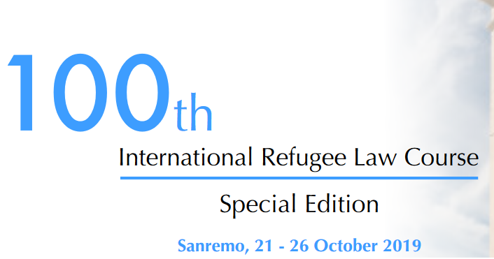 UNHCR 100 th International Refugee Law Course 2019 (Totally Moneyed)